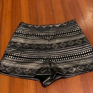 High waisted patterned shorts